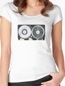 Transparent VHS Fake Women's Fitted Scoop T-Shirt
