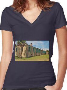 Atalaya Castle Women's Fitted V-Neck T-Shirt