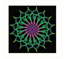 Purple Gem black Art Print