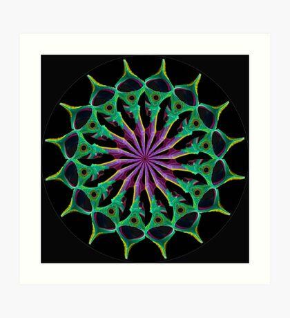 Purple Gem black Art Print