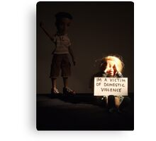 'im a victim of domestic violence' Canvas Print