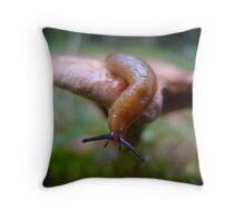 Slug on a shroom Throw Pillow