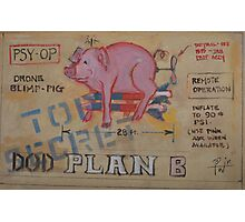 DOD Plan B Drone Blimp Pig Photographic Print