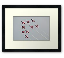 Red Arrows Chevron Formation Framed Print