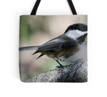 The Lovely Profile of a Black-Capped Chickadee Tote Bag