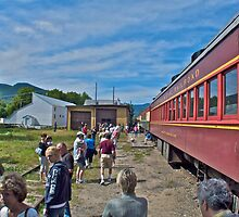 """""""Engine Move At Bartlett"""" - Conway Scenic RR Series - © 2009 SEP by Jack McCabe"""