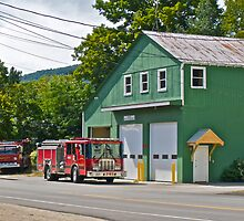 """""""Bartlett Fire Department"""" - Conway RR Scenic Series - © 2009 SEP by Jack McCabe"""