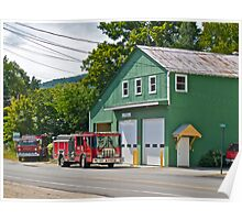 """Bartlett Fire Department"" - Conway RR Scenic Series - © 2009 SEP Poster"
