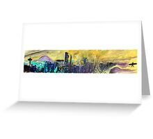 360 Degrees NW - Surf Art Greeting Card