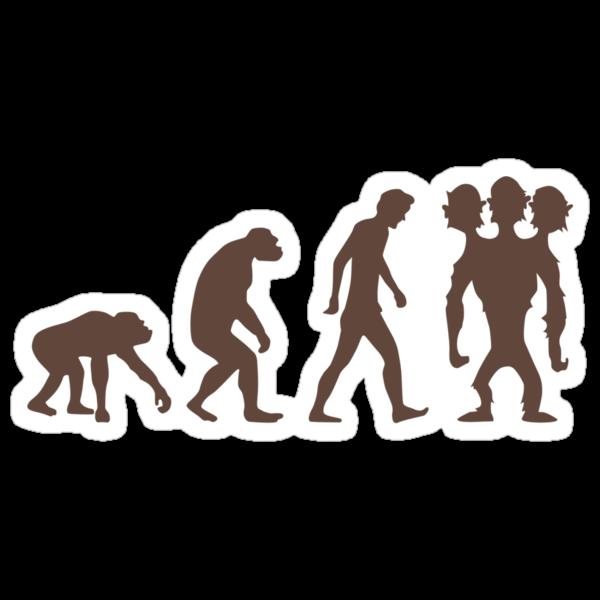 evolution - Three headed Monkey by duub qnnp