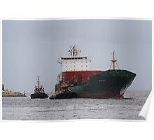 Freighter docking in Fremantle, Western Australia Poster
