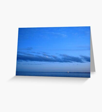 Tranquil blue Greeting Card