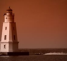 Ashland Harbor Breakwater Lighthouse by Jigsawman