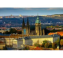 Prague Castle from Petrin Tower Photographic Print