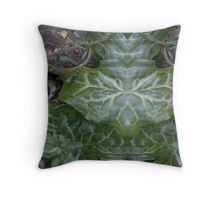 Leaves of the Deadly Nightshade messed with Throw Pillow