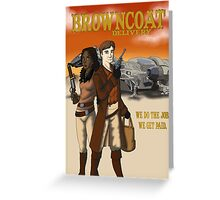 Browncoat Delivery Greeting Card