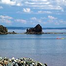 Kayaks at Five Islands by Jann Ashworth
