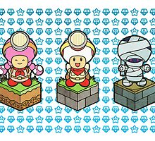 Captain Toad & Co. by purplepixel