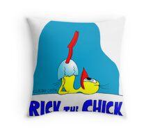 "Rick the chick ""YOGA"" Throw Pillow"