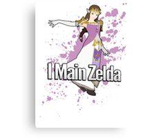 I Main Zelda - Super Smash Bros. Canvas Print