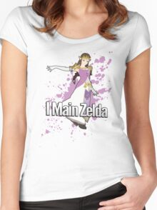 I Main Zelda - Super Smash Bros. Women's Fitted Scoop T-Shirt