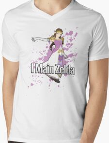 I Main Zelda - Super Smash Bros. Mens V-Neck T-Shirt