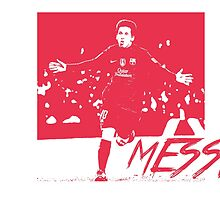 Leo Messi - Red by jackelstub