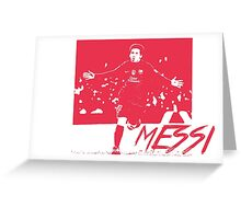 Leo Messi - Red Greeting Card