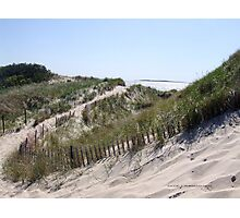 Sand Dunes in Watch Hill, RI ~ Napatree Point Photographic Print