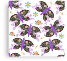 Butterflyes Canvas Print