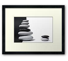 Pebble Zen Framed Print