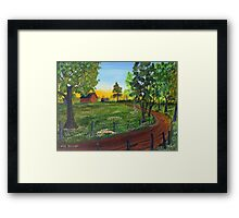 Way Home Framed Print