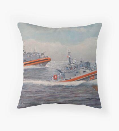 U. s. Coast Guard Boats Throw Pillow