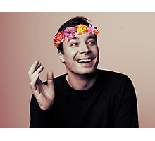 Jimmy Fallon- flower crown Photographic Print