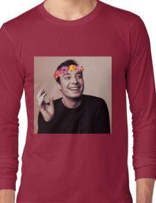 Jimmy Fallon- flower crown Long Sleeve T-Shirt