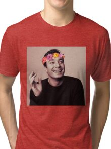 Jimmy Fallon- flower crown Tri-blend T-Shirt