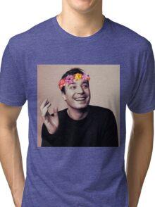 Jimmy Fallon- flower crown Tri-blend T-Shirt