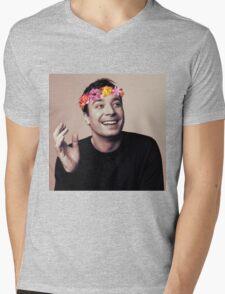 Jimmy Fallon- flower crown Mens V-Neck T-Shirt