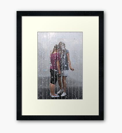 Fountain Togetherness Framed Print