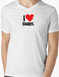 I Heart Zombies Mens V-Neck T-Shirt