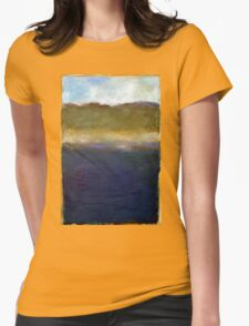 Abstract Dunes Womens Fitted T-Shirt