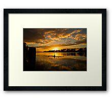 Sunrise rowing Framed Print