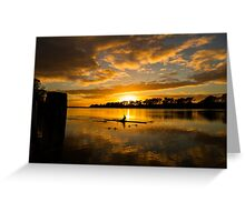 Sunrise rowing Greeting Card