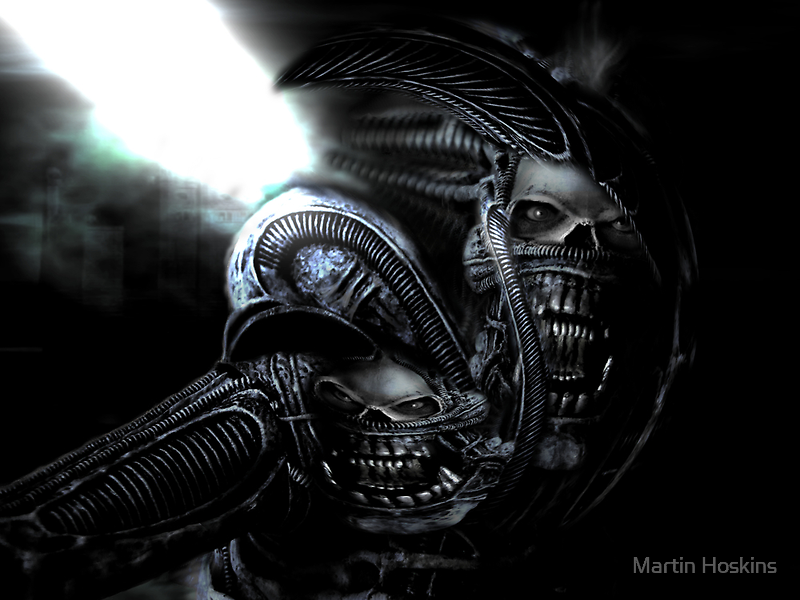 Xenomorph Montage 3 by Martin Hoskins