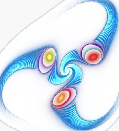light flame in blue Sticker