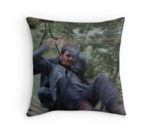 arm power Throw Pillow