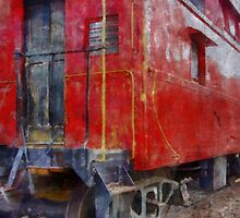 Old Red Caboose by Michelle Calkins