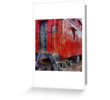 Old Red Caboose Greeting Card