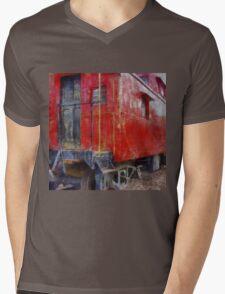 Old Red Caboose Mens V-Neck T-Shirt