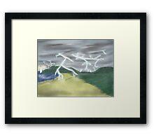 Stormy Beach Framed Print